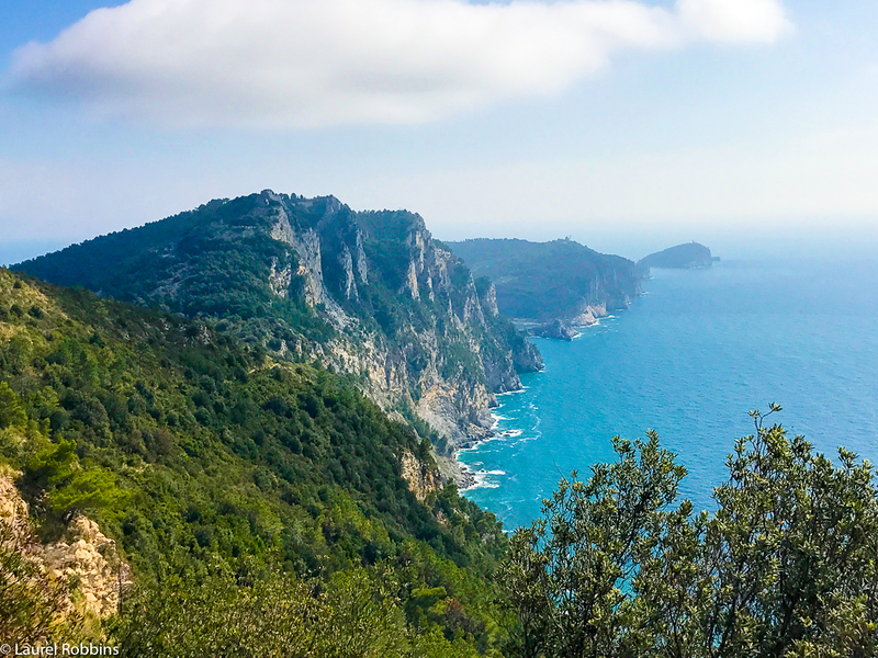 Some of the best views you'll get while hiking are just outside of the Cinque Terre, like this one seen en route to Portoverne.