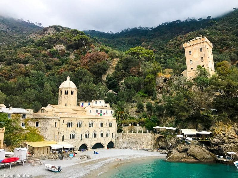 San Fruttuoso Abbey is a highlight of the Cinque Terre walking tour