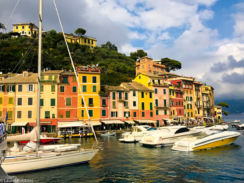 Portofino is a village outside of Cinque Terre where you'll find high end shops and yachts.