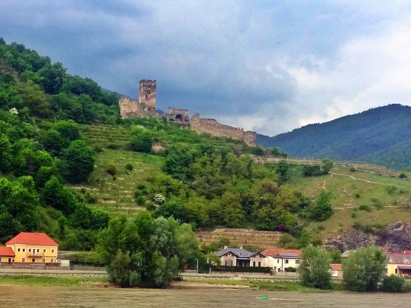 Castle ruin along the Danube river eurovelo 6 cycle route