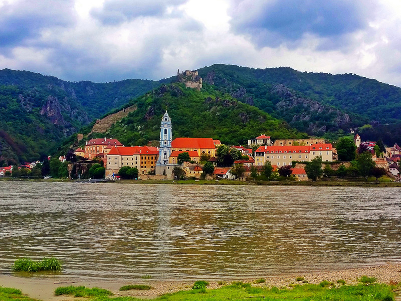 Picturesque town on the Danube river eurovelo 6 cycle route