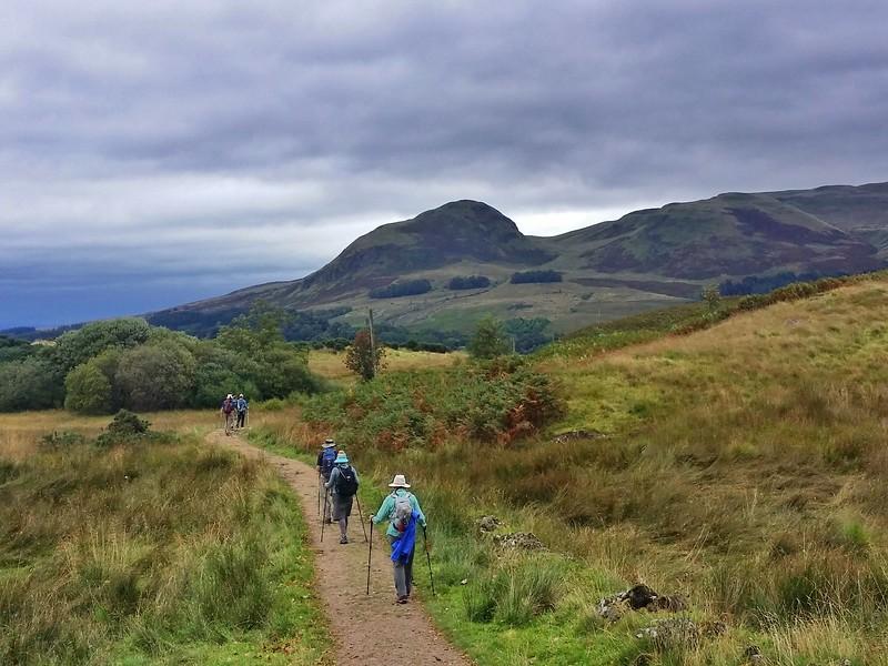 Day 1 hiking West Highland Way from Milngavie to Drymen