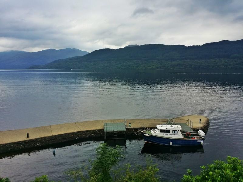 Day 2 Boat at Inversnaid on Loch Lomond