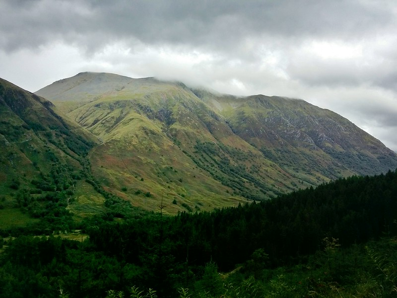 Day 7 Ben Nevis tallest mountain in UK peaking out