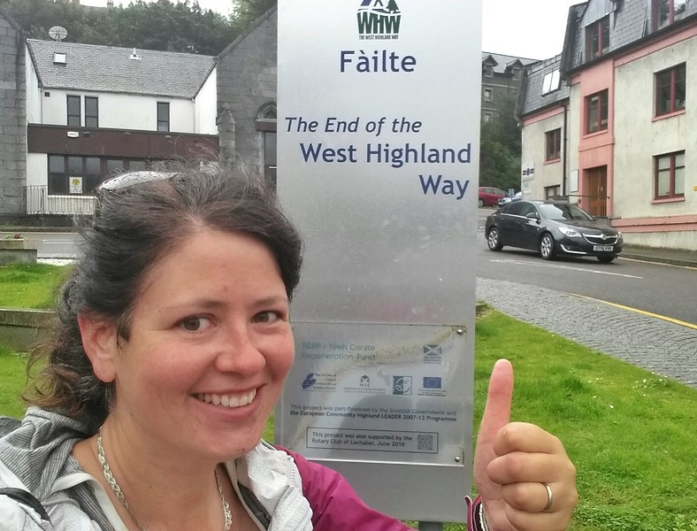 Day 7 End of West Highland Way in Fort William