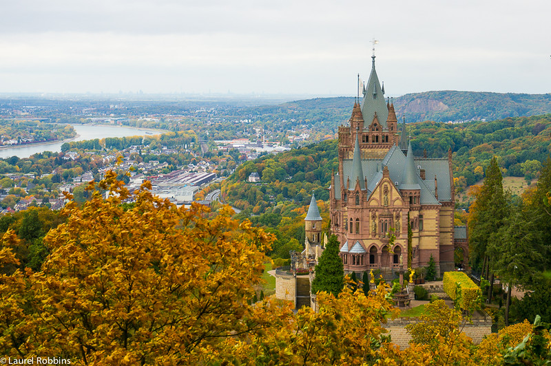 One of the great things about immigrating to Germany is the chance to explore the ~25,000 castles. Pictured: Drachensburg Castle near Bonn.
