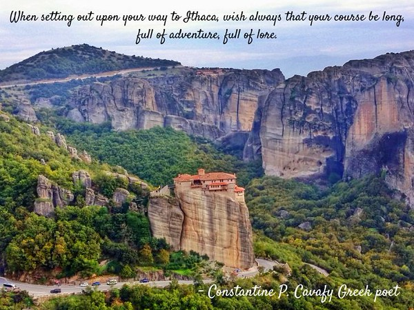 Quote from Constantine Cavafy, one of Greece's most famous poets.
