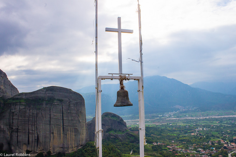 At the top of Holy Spirit Mountain in Meteora, Greece