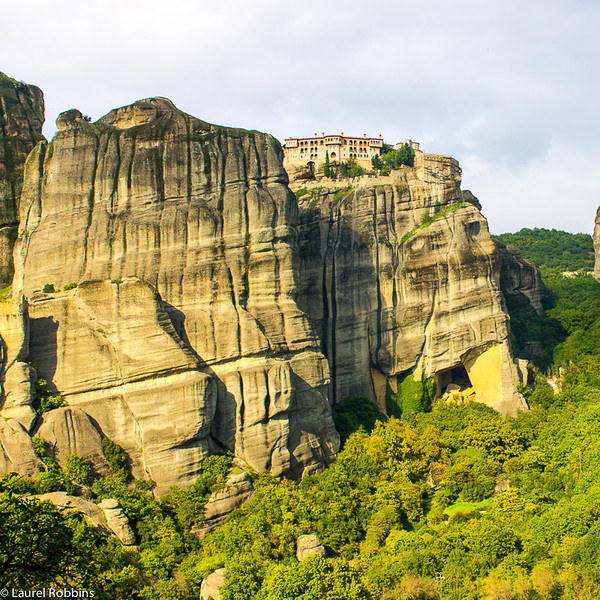 View of one of the six remaining monasteries in Meteora, Greece