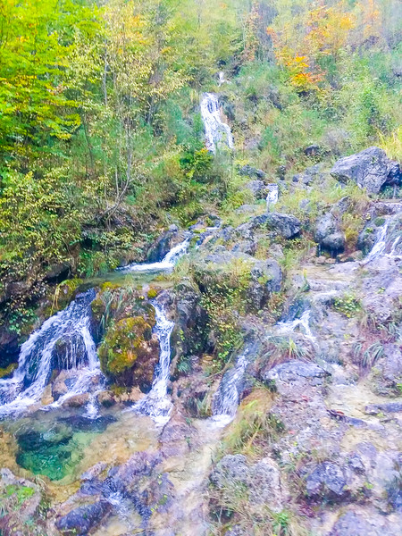 Hikers can see cascading waterfalls when hiking Enipeas' Gorge in Mount Olympus National Park in Greece