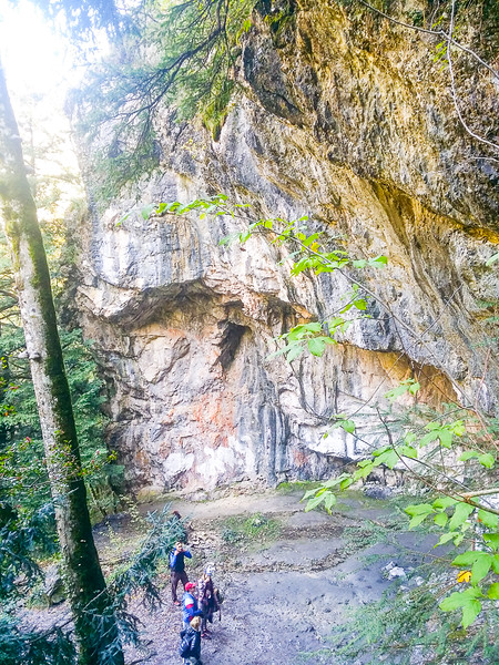 The Holy Cave of St. Dionysios in Enipeas' Gorge in Mount Olympus National Park, Greece.