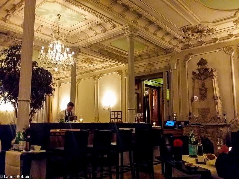 Restaurant Enoteca at the Kempinski Grand Hotel des Bains in St. Moritz