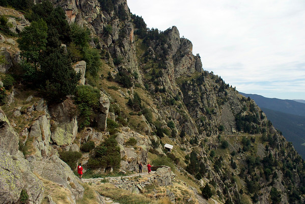Hiking the Vall de Nuria in the Pyrenees, Catalonia, Spain