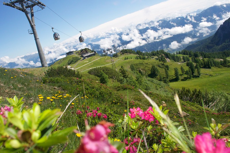 The gondola in the Nassfeld provides you with a gorgeous view