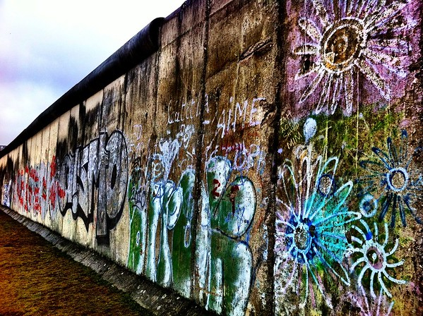 Graffiti on the Berlin Wall in Germany