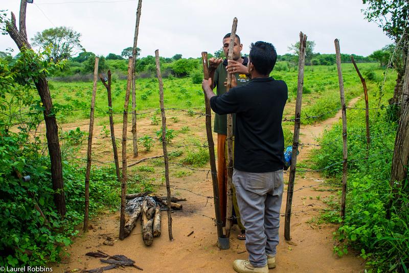 Meeting a local farmer in Sri Lanka.