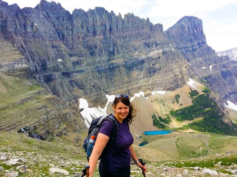 top adventure travel blogger hiking in Glacier National Park