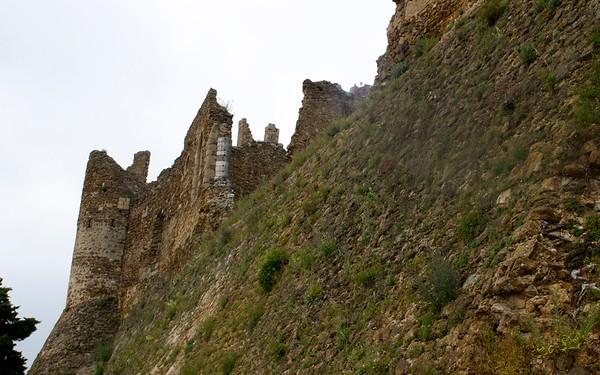 castell de montsoriu wall catalonia