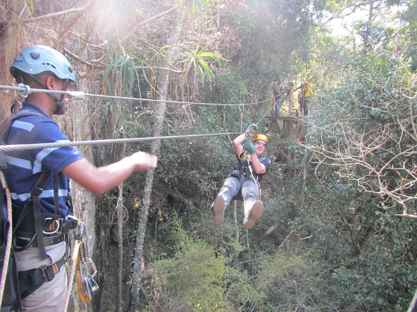 Enjoying Swaziland's only Canopy Tour