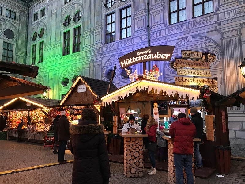 The Christmas village is held in the courtyard of the Munich Residenz and is great for children.