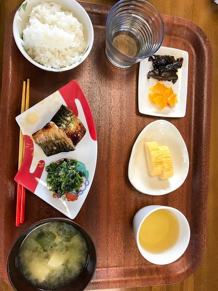 An example of breakfast in Okinawa, Japan