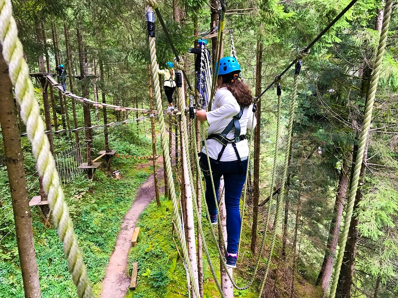 Adventurers will love the High Rope Course in Mayrhofen. There's also a flying fox course.