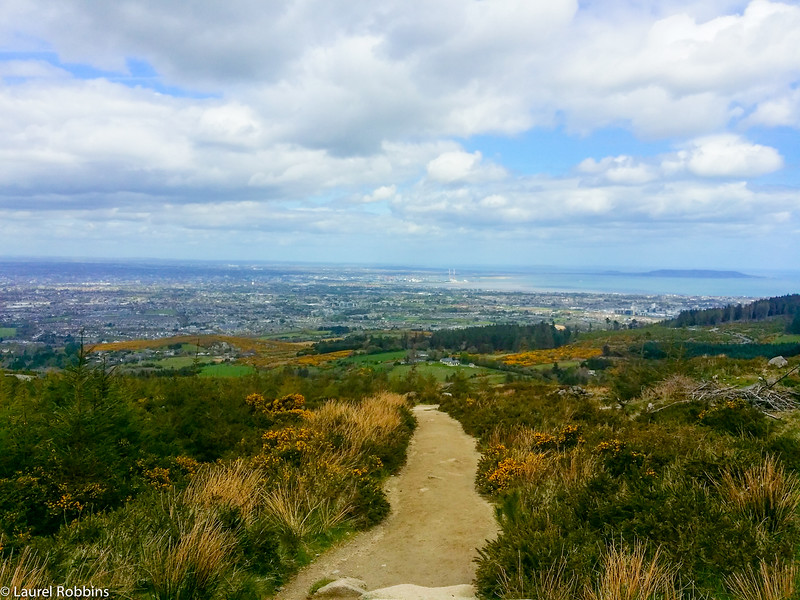Views over Dublin and the Irish Sea from Two-Rock Mountain, near the end/start of the Wicklow Way.