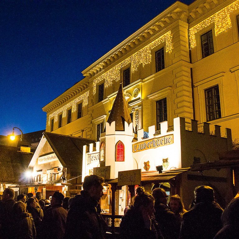 You'll find the Medieval Christmas Market at Wittelsbacherplatz in Munich, Germany