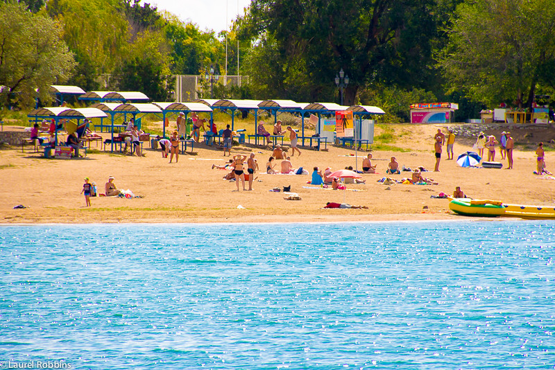 beaches along the shores of Lake Issyk-Kül