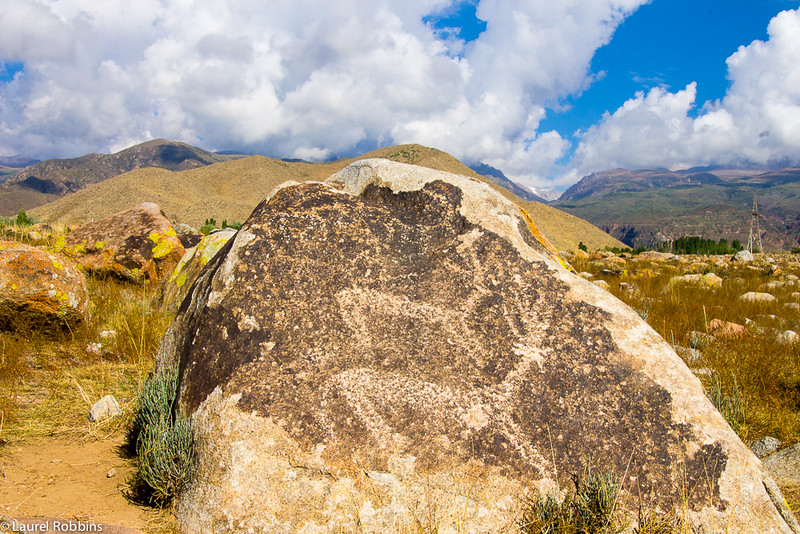 The petroglyphs at Cholpon-Ata in Kyrgyzstan depict mainly hunting scenes providing a glimpse into what life was like in the past.