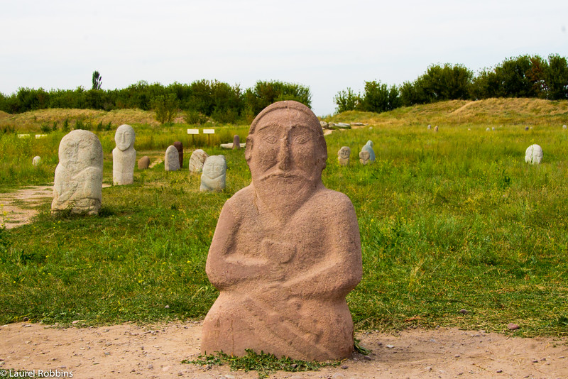 At the ancient city of Balasagun in Kyrgyzstan, you'll find gravestones from nomadic Turks.