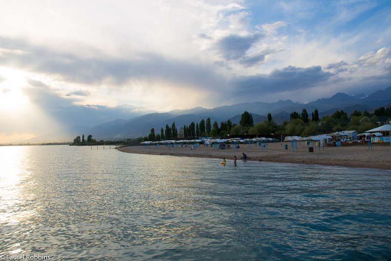 Lake Issyk-Kul is one of the highlights of travelling to Kyrgyzstan in Central Asia.