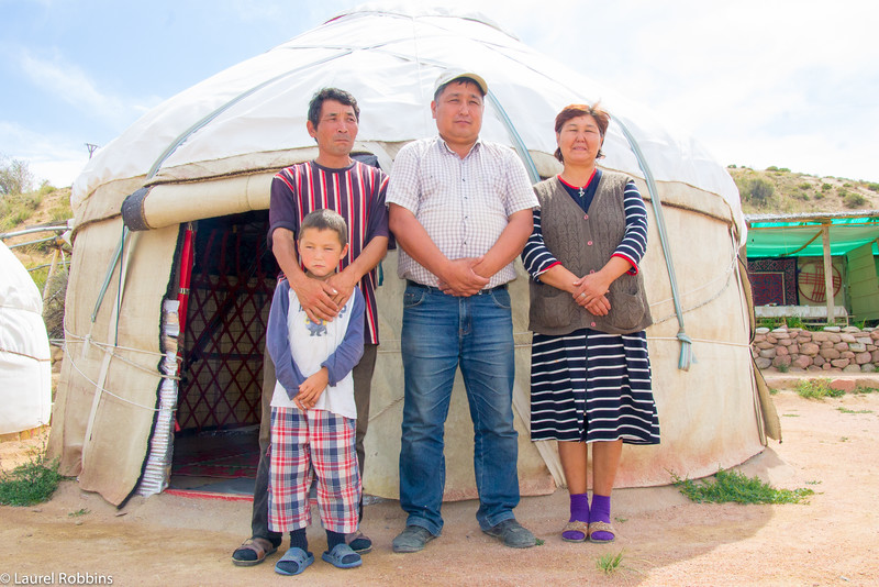 Travellers can sleep at a yurt camp run by local families through a community-based tourism project in Krygyzstan