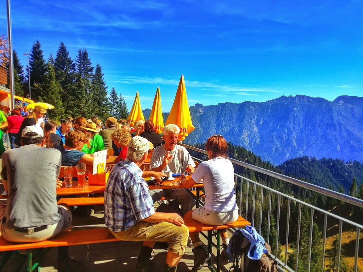 Laber Restaurant, where hikers and gondola riders meet...or collide...depending on your point of view.