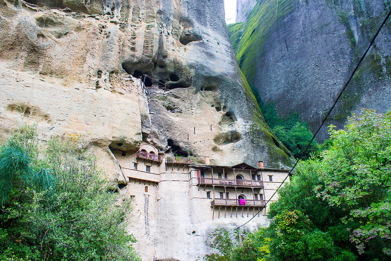Meteora monasteries were built to keep intruders out.