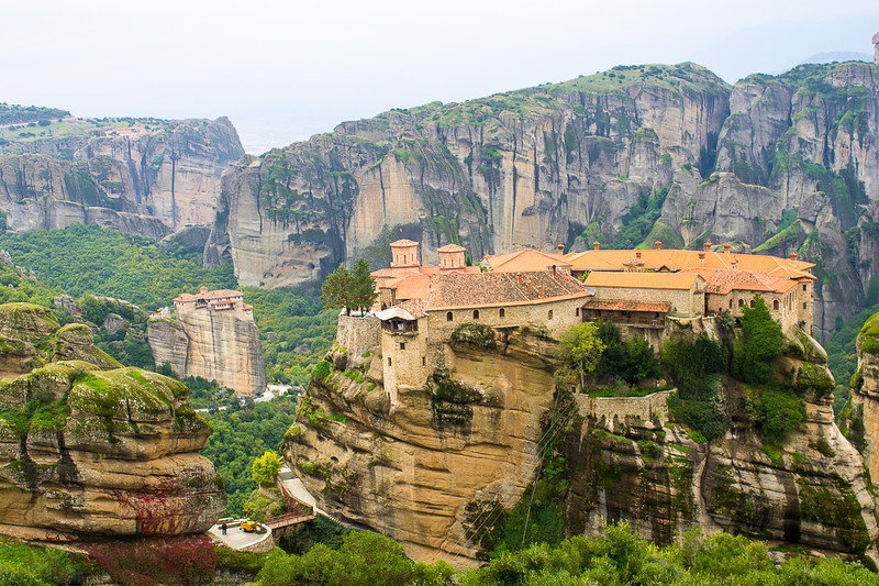 One of the 6 remaining monasteries of Meteora, Greece