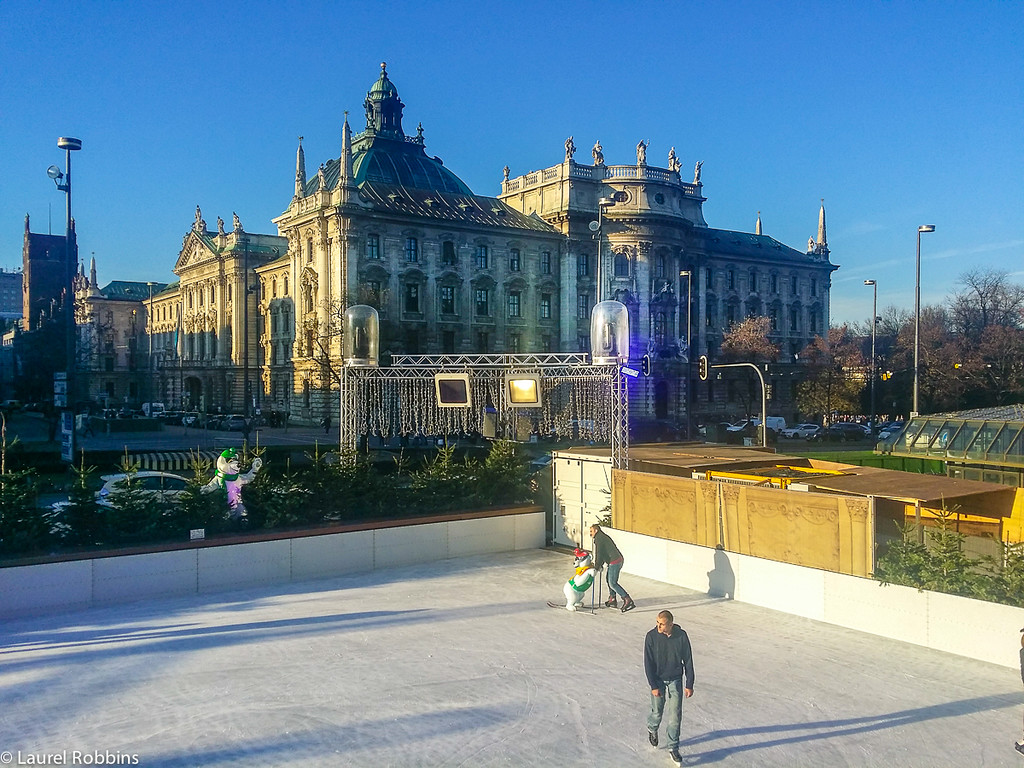 Münchener Eiszauber (Munich Ice Magic) offers skating at Stachus (Karlsplatz) in Munich, Germany