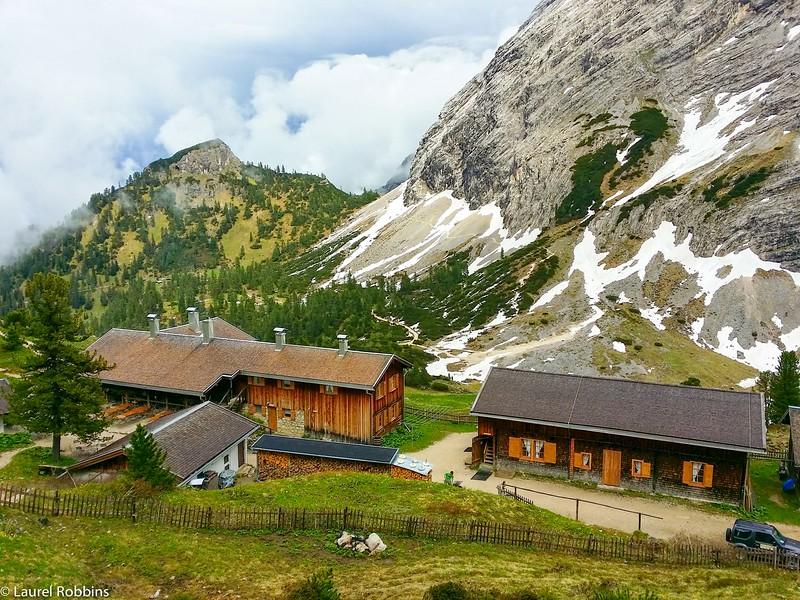 Schachenaus Mountain Hut in the German Alps