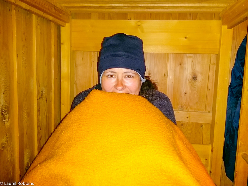 There's no heat in the Schachen Mountain Hut in Germany.