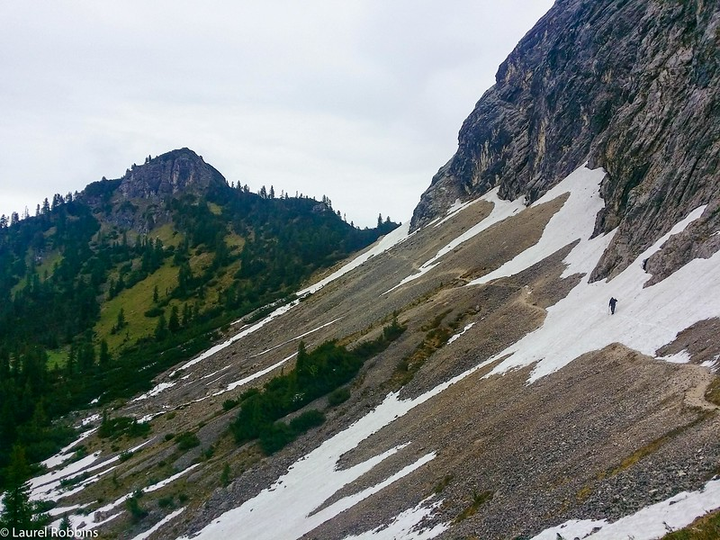 Alternative hiking route to/from the Schachen in Germany.