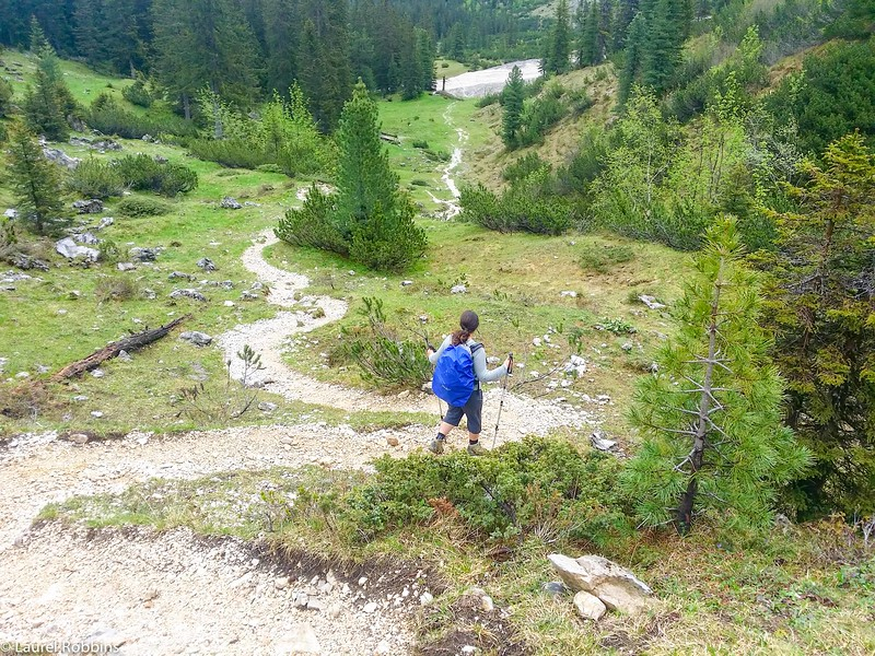 Adventure travel blogger Laurel Robbins on the return hike from the Schachen in Bavaria.