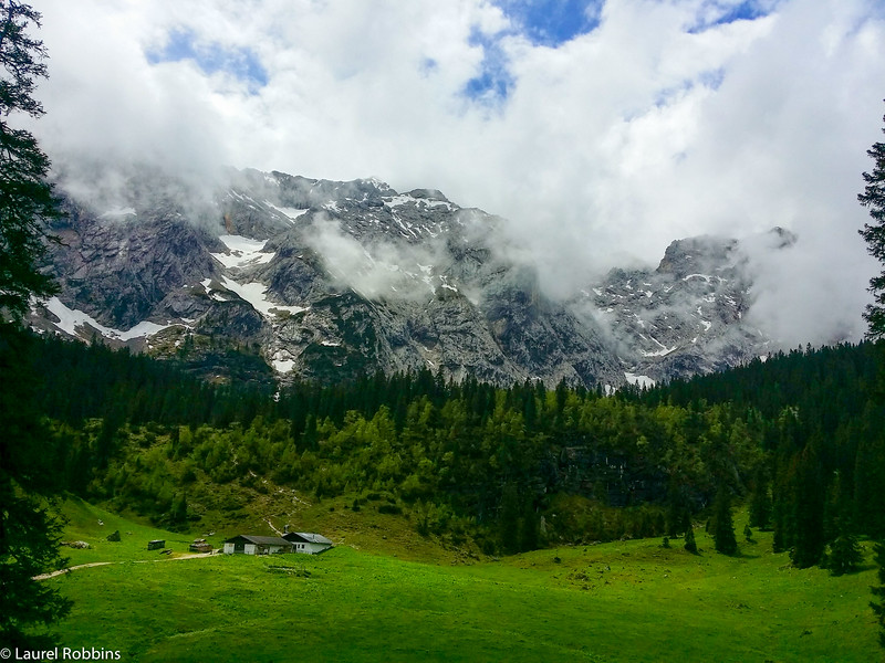You'll pass the Wetterstein Alm while hiking to the Schachen in the German Alps.