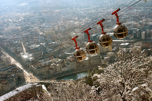 Taking the Grenoble-Bastille cable car to La Bastille is the #1 thing to do in Grenoble, France.