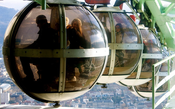 The Grenoble-Bastille cable car is the coolest cable car I've ever taken.