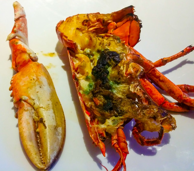lobster dinner in Santander, the capital of Cantabria