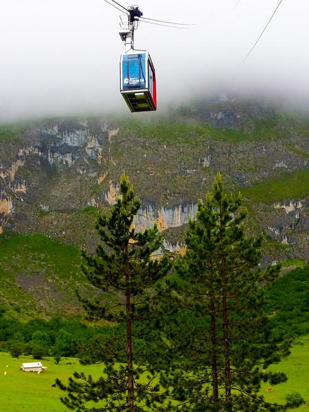 Fuente Dé cable car takes you up to 1800 metres and offers what I'm assuming are stunning views of Picos de Europa.