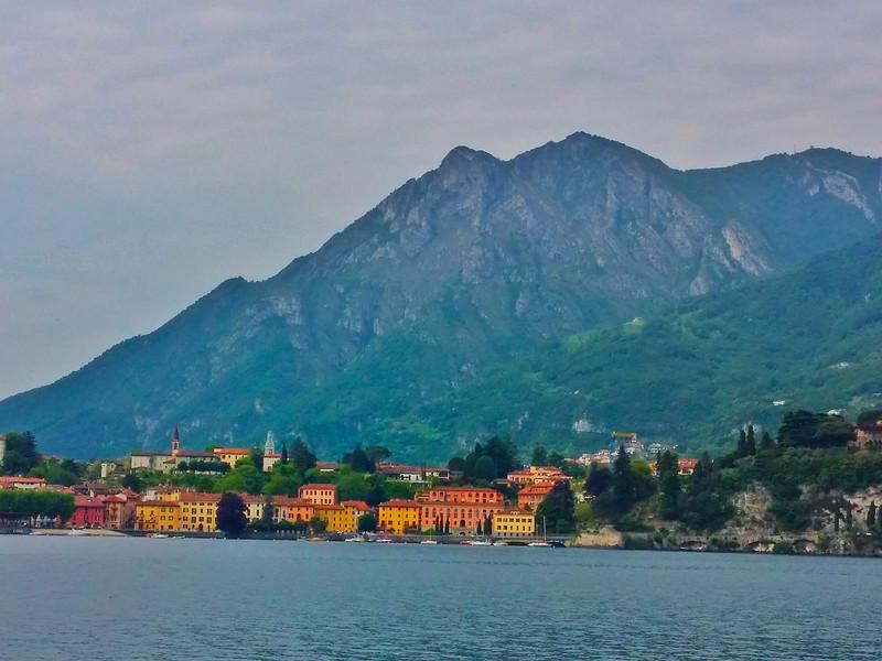 Lecco and Mount San Martino as seen from Lake Como.