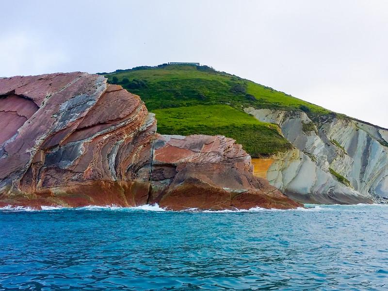 rock formations along the UNESCO Basque Coast Geopark