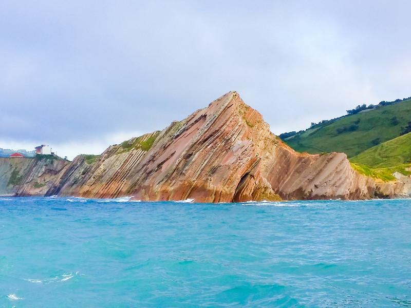Spectacular rock formations seen along the UNESCO Basque Coast Geopark