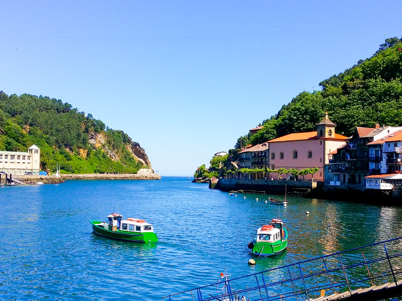 Boats take visitors between Pasai Donibane and Pasai San Pedro in Basque Country.